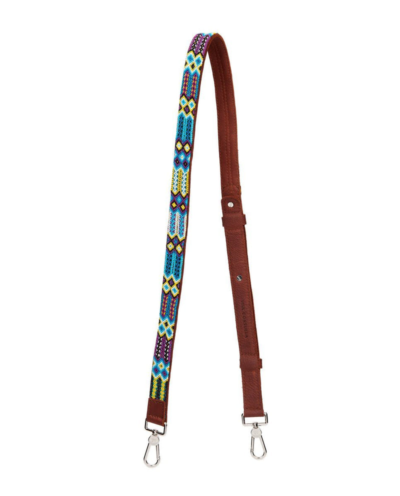 BLUEBERRY LEATHER CROSSBODY STRAP