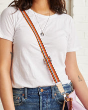 Load image into Gallery viewer, ORANGE SLIM WEBBING CROSSBODY STRAP
