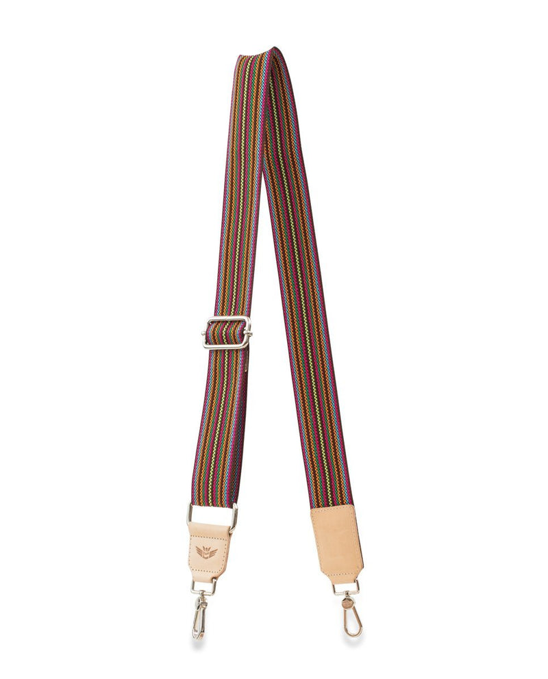 BROWN WEBBING CROSSBODY STRAP