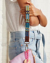 Load image into Gallery viewer, BLUEBERRY LEATHER WRISTLET STRAP