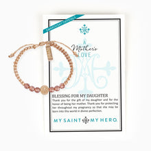 Load image into Gallery viewer, A Mother's Love Blessing for My Daughter Bracelet
