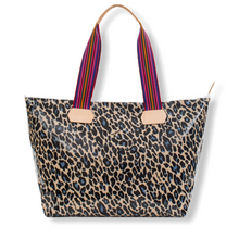 Load image into Gallery viewer, BLUE JAG ZIPPER TOTE