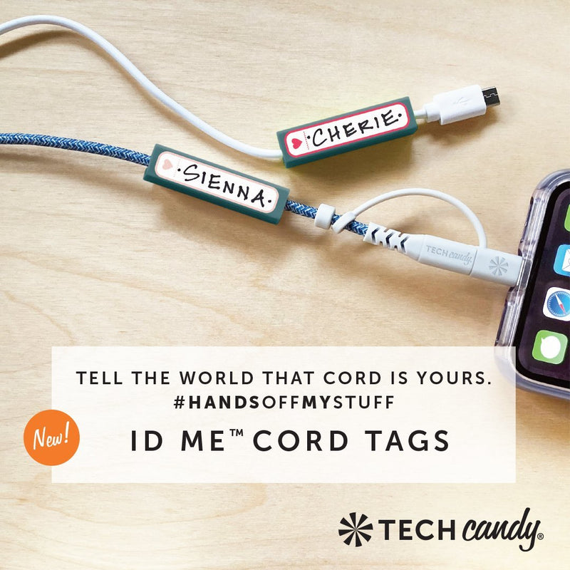 ID Me Charging Cord ID Tag Set