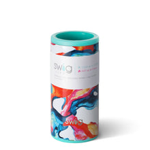 Load image into Gallery viewer, COLOR SWIRL 12OZ SKINNY CAN COOLER