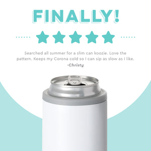 DIAMOND WHITE 12OZ SKINNY CAN COOLER