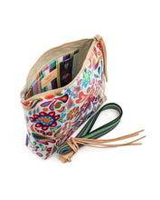 Load image into Gallery viewer, WHITE SWIRLY DOWNTOWN CROSSBODY