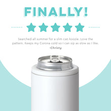 Load image into Gallery viewer, MATTE WHITE 12OZ SKINNY CAN COOLER
