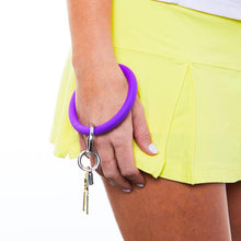 Load image into Gallery viewer, BIG O SILICONE KEY RING - DEEP PURPLE