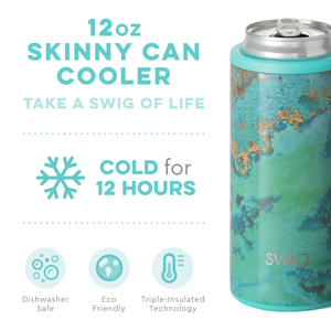 COPPER PATINA 12OZ SKINNY CAN COOLER