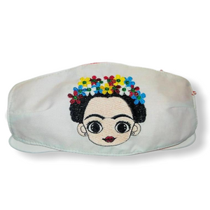 FRIDA WHITE CHILD PUEBLA FACE MASK