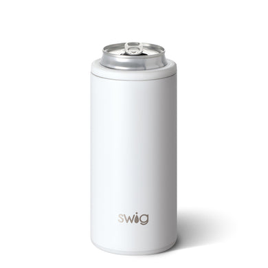 MATTE WHITE 12OZ SKINNY CAN COOLER