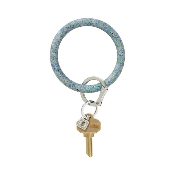 BIG O SILICONE KEY RING - BLUE FROST CONFETTI