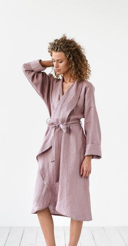 Linen robe/duster coat
