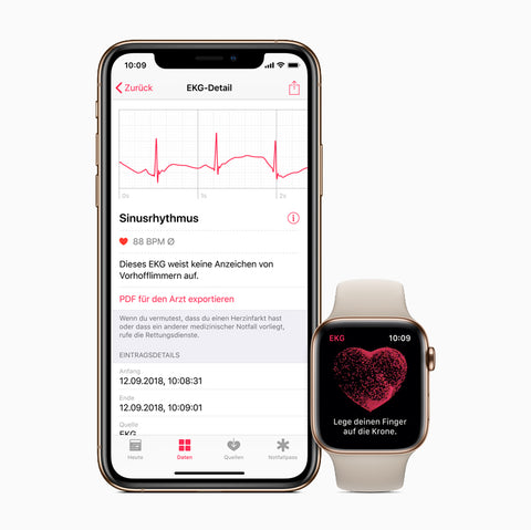 ECG sensor apple watch