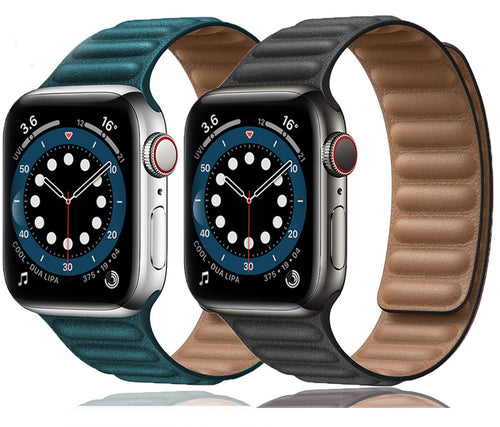 New Magnetic Leather Loop Strap for Apple Watch Series - Wrist Watch Straps
