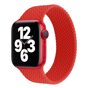 Braided Silicone Solo Loop Straps for Apple Watch - Wrist Watch Straps