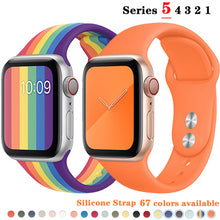 Load image into Gallery viewer, Silicone Strap bands For Apple Watch more colors