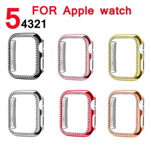 Bling Diamond Rhinestone Screen Protector cover bumper case for Apple Watch - Wrist Watch Straps