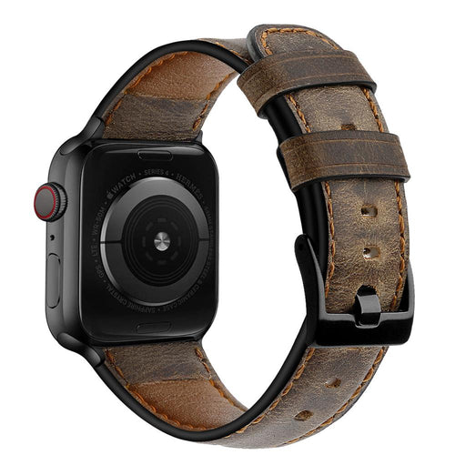 Distressed premium leather watch strap for Apple Watch - Wristwatchstraps.co