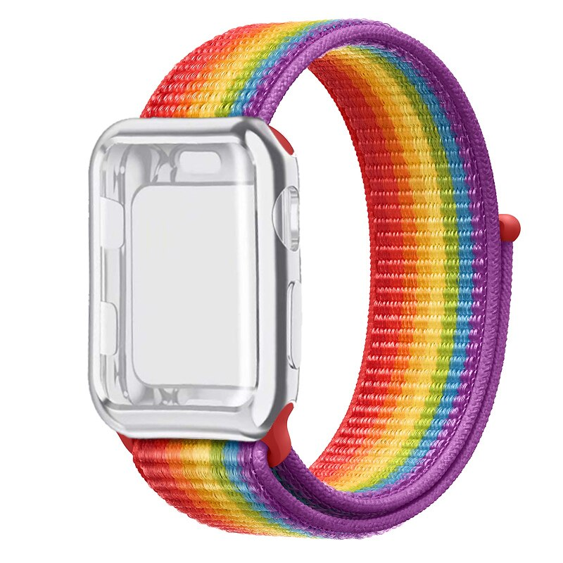 LGBT Pride Edition Nylon Loop Sport Strap and Case Protector - Wrist Watch Straps