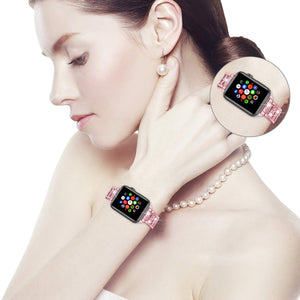 Luxury Diamond Rhinestone Crystal Stone Band + Case Combo for Apple Watch - Wristwatchstraps.co