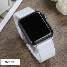 Load image into Gallery viewer, Ceramic Strap with Stainless Steel Butterfly Buckle for Apple Watch - Wristwatchstraps.co