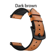 Load image into Gallery viewer, Leather and Silicone Hybrid Sweatproof Strap for Samsung Galaxy watch - Wrist Watch Straps