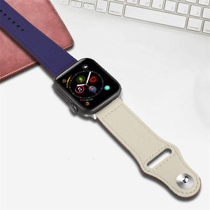 Genuine Leather Strap for Apple Watch - Wrist Watch Straps