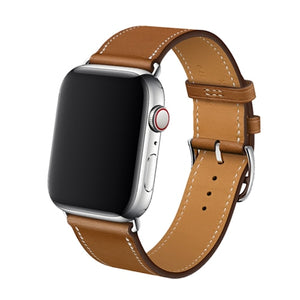 Single Tour Genuine Leather Strap for series 5/4/3/2/1, Hermes, Nike Apple Watches - Wrist Watch Straps