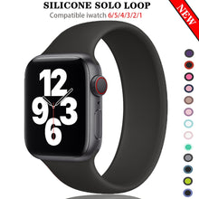 Load image into Gallery viewer, Silicone Solo Loop Strap for new Apple Watch 6 SE All Series