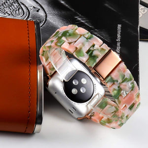 Resin Watch Strap with Stainless Steel Buckle for Apple Watch - Wrist Watch Straps