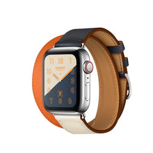 Load image into Gallery viewer, Double Tour Genuine leather Strap for Hermes, Series 1,2,3,4,5, Nike Apple Watch - Wristwatchstraps.co