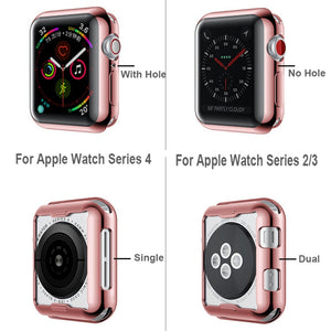 TPU Protector Watch Cover Case with Screen Protection For Apple Watch - Wristwatchstraps.co