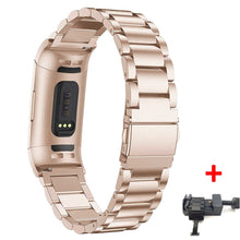 Load image into Gallery viewer, Stainless Steel Link Band for Fitbit charge 3|4 - Wristwatchstraps.co