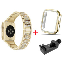 Load image into Gallery viewer, Luxury Diamond Rhinestone Crystal Stone Band + Case Combo for Apple Watch - Wrist Watch Straps
