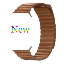 Load image into Gallery viewer, Magnetic Leather Loop Band Strap Bracelet for Apple watch - Wristwatchstraps.co