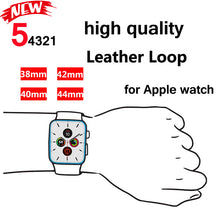 Load image into Gallery viewer, Magnetic Leather Loop Band Strap Bracelet for Apple watch - Wrist Watch Straps