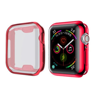 TPU Protector Watch Cover Case with Screen Protection For Apple Watch - Wrist Watch Straps