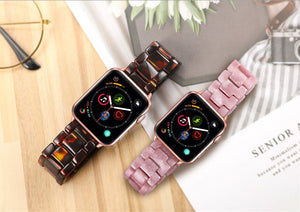 Resin Watch Strap with Stainless Steel Buckle for Apple Watch - Wristwatchstraps.co