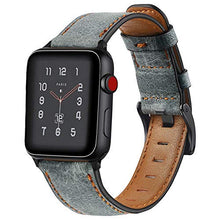 Load image into Gallery viewer, Distressed premium leather watch strap for Apple Watch - Wrist Watch Straps