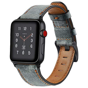 Distressed premium leather watch strap for Apple Watch - Wrist Watch Straps