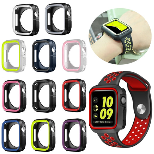 Silicone Bumper and Protector Cover for Sport Apple Watch compatible with Nike Sports Bands - Wristwatchstraps.co