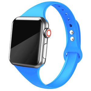 Slim Silicone Strap for Apple watch band - Wristwatchstraps.co