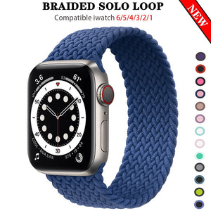 Braided NYLON Loop Strap for Apple Watch - Wristwatchstraps.co