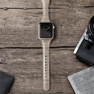 Glistening Glitter Slim Silicone Strap for Apple Watch - Wrist Watch Straps