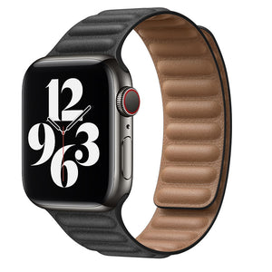 New Magnetic Leather Loop Strap for Apple Watch Series - Wristwatchstraps.co