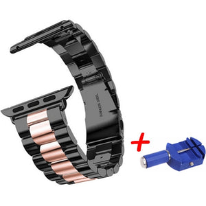 Stainless Steel Metal Bands with Folding Clasp and link tool for Apple Watch - Wristwatchstraps.co