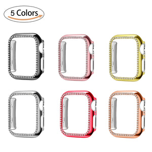 Bling Diamond Rhinestone Screen Protector cover bumper case for Apple Watch - Wristwatchstraps.co