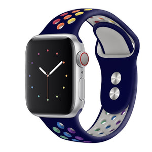 Rainbow Pride Edition Silicone Sports Watch Strap for Apple Watch - Wrist Watch Straps