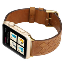 Load image into Gallery viewer, Woven Designed Leather Strap for Apple watch band - Wristwatchstraps.co
